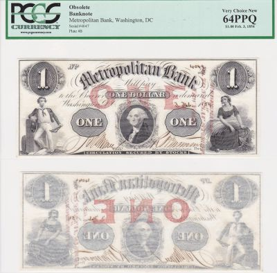 1854. $1. PCGS. Very Ch-64. PPQ. DC.