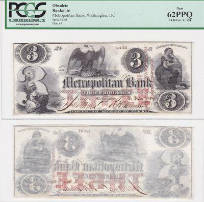 1854. $3. PCGS. New-62. PPQ. DC.