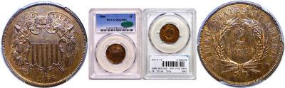 1866. PCGS. PR-65. BN.