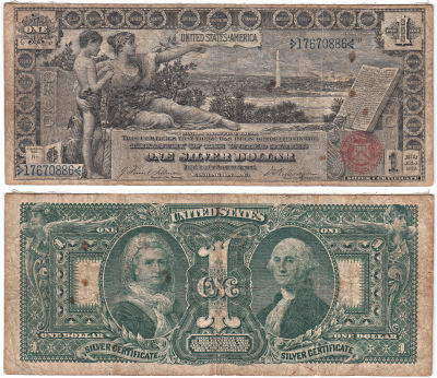 1896. $1. F-224. FINE. Sil Cert.