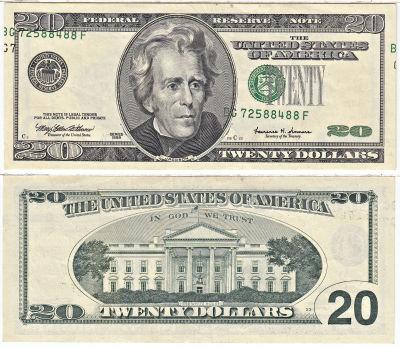 1999. $20. CCU. Federal Reserve Note.