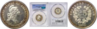 1870. Quarter. PCGS. MS-64+. J-906.