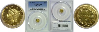 Undated. PCGS. MS-64. California Fractional Gold.