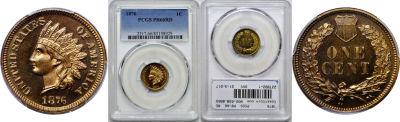1876. PCGS. PR-66. RD.