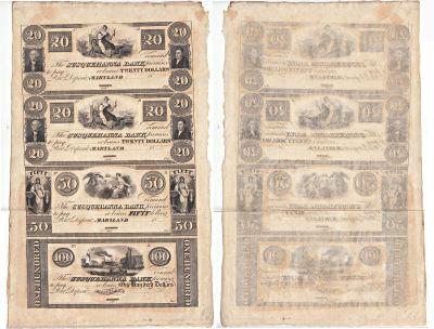 1837. $20,$20,$50,$100. CU. MD.