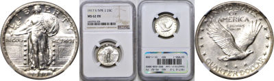 1917-S T-2. NGC. MS-62. FH.