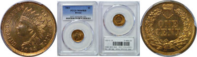 1864 Bronze. PCGS. MS-65. RB.