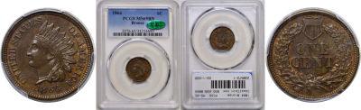 1864 Bronze. PCGS. MS-65.
