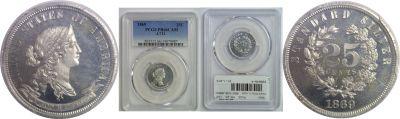 1869. Quarter. PCGS. PR-66. CAM. J-731.