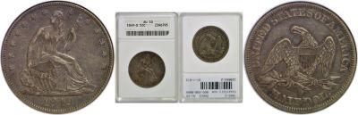 1849-O. ANACS. AU-50.