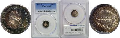 1857-O. PCGS. MS-62.