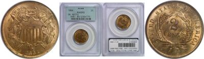 1864 Small Motto. PCGS. MS-65. RD.