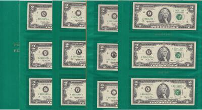 1995*. $2. CU. Federal Reserve Note.