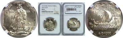 1925. NGC. MS-66. Norse-American.