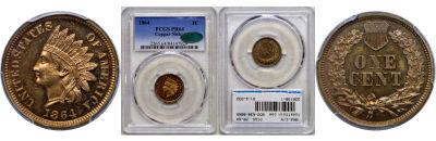 1864-C/N. PCGS. PR-64.