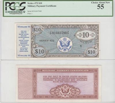$10. Series 472. PCGS. Ch AU-55.