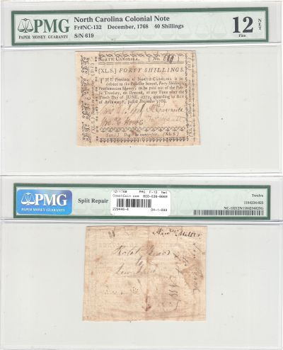12/1768. NC. Forty Shillings. PMG. F-12. Net.