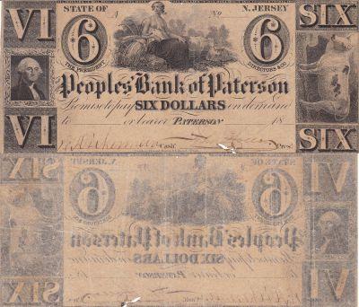 1830's. $6. VG+. NJ.