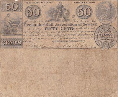 1837. 50c. VG+. NJ.