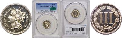 1867. PCGS. PR-66. CAM.