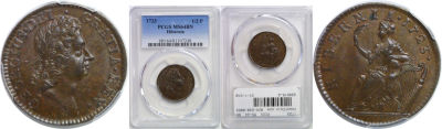 1723. Wood's Hibernia. PCGS. MS-64. BN.