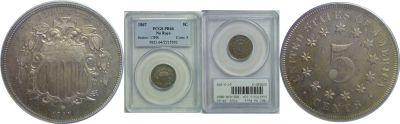 1867 No Rays. PCGS. PR-64.