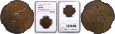 (1792-94). Kentucky Token. NGC. MS-64. BN.