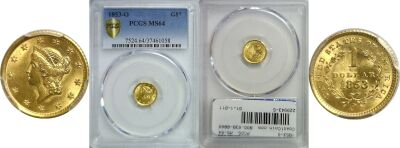 1853-O. PCGS. MS-64.