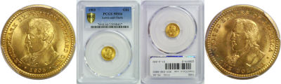 1905. PCGS. MS-66. Lewis and Clark $1.
