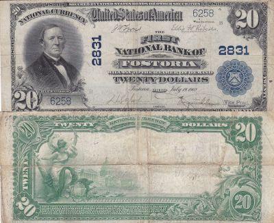 1902. $20. FINE. OH. Fosteria. Charter 2831.