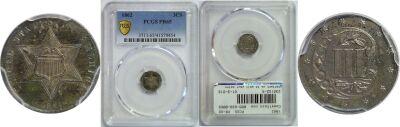 1862. PCGS. PR-65.