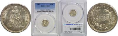 1843. PCGS. MS-65.