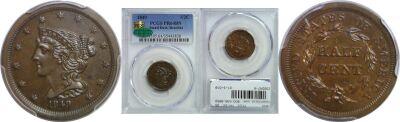1849. PCGS. PR-64. BN.