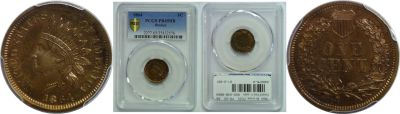 1864 Bronze. PCGS. PR-65. RB.