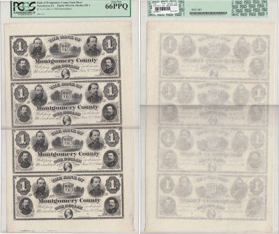 1865. $1. PCGS. Gem-66. PPQ. PA.
