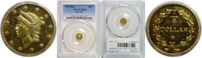 Undated. PCGS. MS-63. California Fractional Gold.