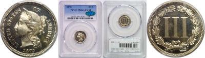 1870. PCGS. PR-66+. CAM.