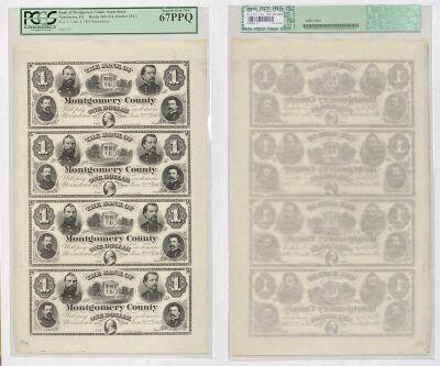 1865. $1. PCGS. Superb-67. PPQ. PA.
