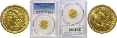1843-D. PCGS. AU-55.