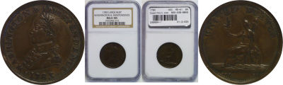 1783. Washington. NGC. MS-61. BN.