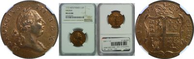 1773. Virginia. NGC. MS-65. RB.