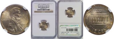 1993. NGC. MS-64. Cent. Wrong Planchet.