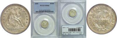 1850. PCGS. MS-66.