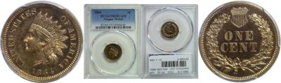 1864-C/N. PCGS. PR-65. CAM.