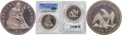 1851. PCGS. PR-64. CAM.