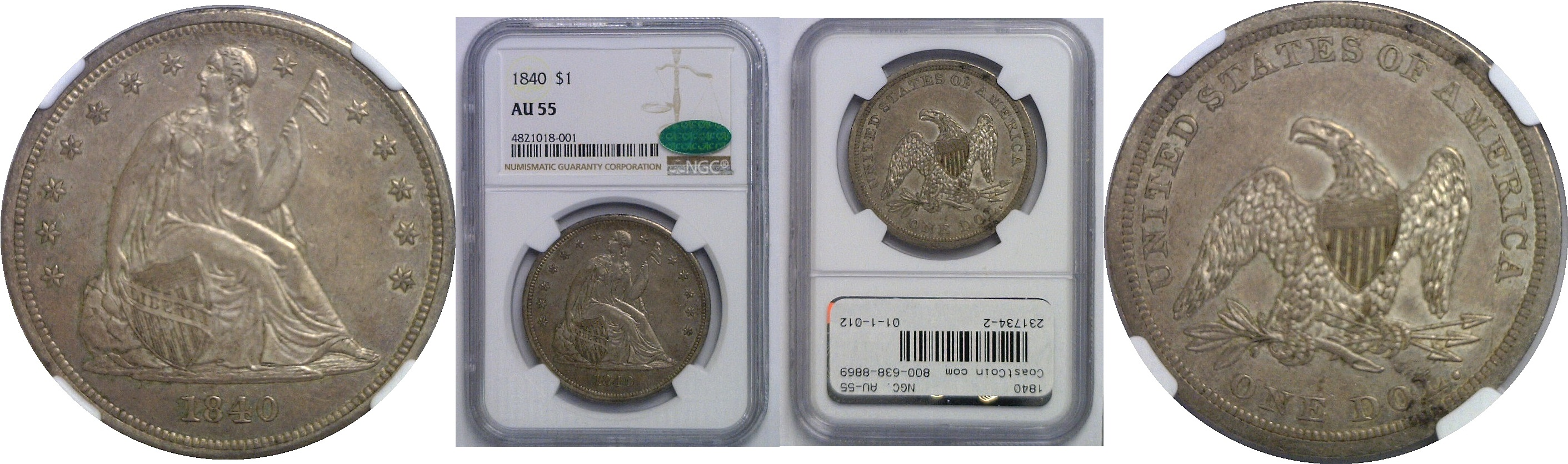 Liberty Seated Dollar (1836-1873) - Coins for sale on Collectors Corner