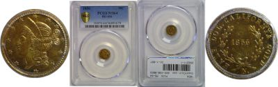 1856. PCGS. MS-64. California Fractional Gold.