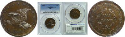 1855. Cent. PCGS. PR-65. BN. J-173.