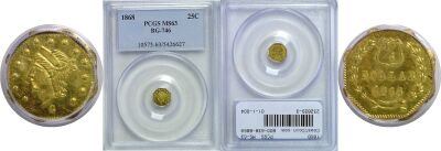 1868. PCGS. MS-63. California Fractional Gold.