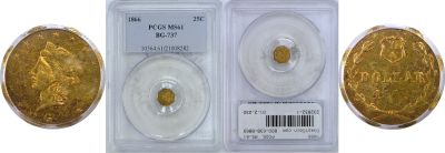 1866. PCGS. MS-61. California Fractional Gold.